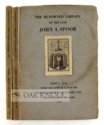 FIRST EDITIONS OF ENGLISH XVIII-XIX CENTURY AND AMERICAN XIX CENTURY AUTHORS. ... JOHN A. SPOOR.