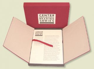 CENTER BROADSIDES READING SERIES: FIFTH ANNIVERSARY