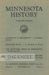 """THE FRONTIER PRESS OF MINNESOTA."" Herman Roe"