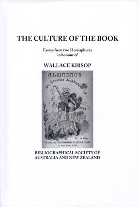 CULTURE OF THE BOOK, ESSAYS FROM TWO HEMISPHERES