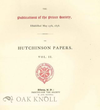 THE HUTCHINSON PAPERS.