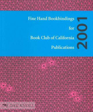 FINE HAND BOOKBINDINGS FOR BOOK CLUB OF CALIFORNIA PUBLICATIONS