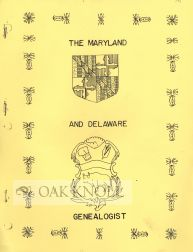 THE MARYLAND AND DELAWARE GENEALOGIST,