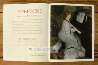 NEW SPECIMEN OF DEEPTONE, REPRODUCTION IN FOUR COLORS: FROM AN OIL PAINTING, FROM AN OLD CHINESE...