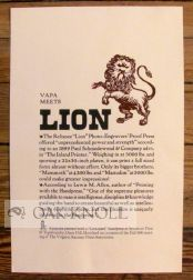 VAPA MEETS LION.