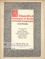 CATALOGUE OF BOOKS IN FOREIGN LANGUAGES OF ALL PERIODS CATALOGUE 666. 666