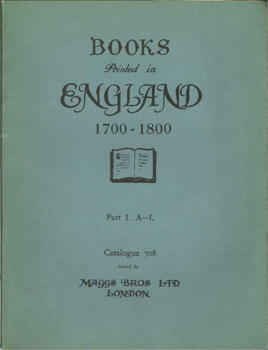 ENGLISH LITERATURE AND HISTORY OF THE 18TH CENTURY. 717 708
