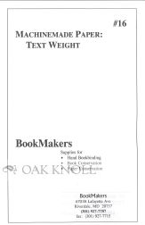 MACHINEMADE PAPER: TEXT WEIGHT