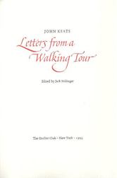 LETTERS FROM A WALKING TOUR