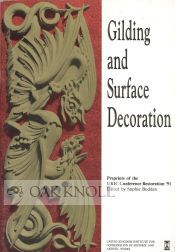 GUILDING AND SURFACE DECORATION. Sophie Budden