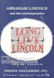 ABRAHAM LINCOLN AND HIS CONTEMPORARIES.
