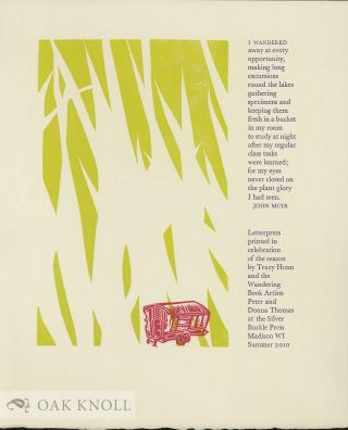 THE. WANDERING BOOK ARTISTS' COLLABORATIVE BROADSIDES