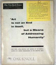 """ ART IS NOT AN END IN ITSELF, BUT A MEANS OF ADDRESSING HUMANITY."""