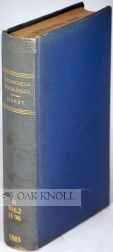 BIBLIOTHECA THEOLOGICA, A SELECT AND CLASSIFIED BIBLIOGRAPHY OF THEOLOGY AND GENERAL RELIGIOUS...
