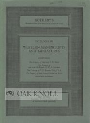 CATALOGUE OF WESTERN MANUSCRIPTS AND MINIATURES.
