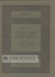 CATALOGUE OF CHILDREN'S BOOKS, JUVENILIA AND RELATED DRAWINGS