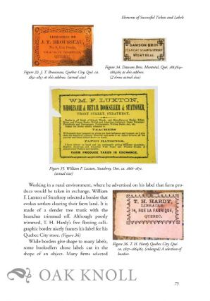 CANADIAN BINDERS' TICKETS AND BOOKSELLERS' LABELS