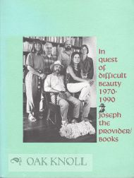 IN QUEST OF DIFFICULT BEAUTY 1970-1990.