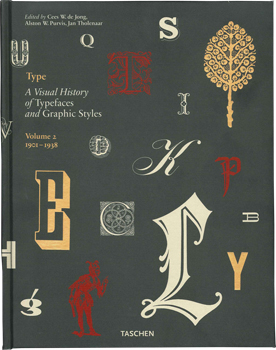 A VISUAL HISTORY OF TYPEFACES AND GRAPHIC STYLES, VOLUME 2. 1901-1938. Cees W. De Jong, Jan...