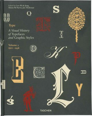 A VISUAL HISTORY OF TYPEFACES AND GRAPHIC STYLES, VOLUME 2. 1901-1938.
