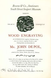 BOWNE & CO., STATIONERS, SOUTH STREET SEAPORT MUSEUM PRESENTS THE ART & TECHNIQUE OF WOOD ENGRAVING.