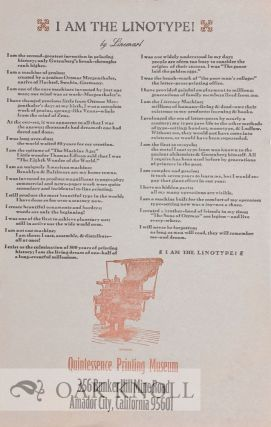 I AM THE LINOTYPE.