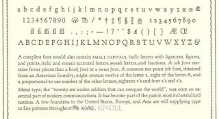 A FONT OF TYPE.