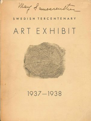 SWEDISH TERCENTENARY ART EXHIBIT 1937-1938. Sixten Strombom