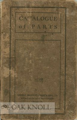 CATALOGUE OF PARTS