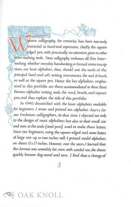 REED, PEN, & BRUSH ALPHABETS FOR WRITING AND LETTERING