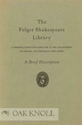 THE FOLGER SHAKESPEARE LIBRARY.