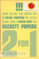 HOW TO GET THE EFFECT OF 2-COLOR PRINTING AT LITTLE MORE THAN 1-COLOR COST ON BECKETT PAPERS