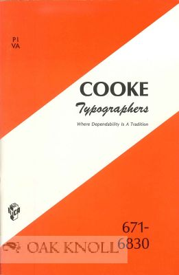 COOKE TYPOGRAPHERS