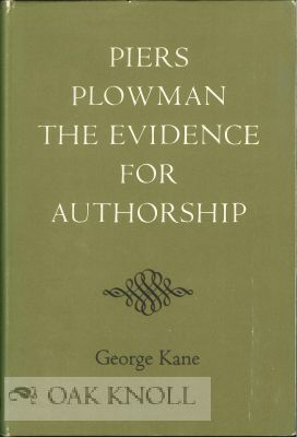 PIERS PLOWMAN: THE EVIDENCE FOR AUTHORSHIP