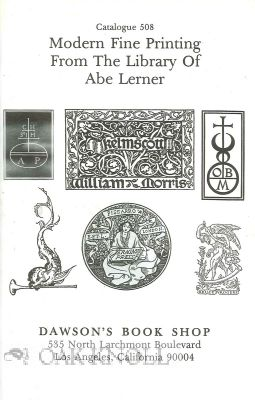 MODERN FINE PRINTING FROM THE LIBRARY OF ABE LERNER