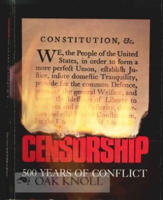 CENSORSHIP, 500 YEARS OF CONFLICT