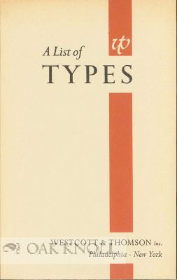 A LIST OF TYPES, ENGLISH MONOTYPE, MONOTYPE, LINOTYPE & INTERTYPE, FOUNDRY, INTERTYPE FOTOSETTER