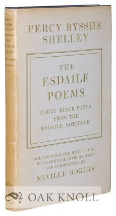 THE ESDAILE POEMS: EARLY MINOR POEMS FROM THE 'ESDAILE NOTEBOOK'