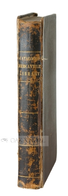 A CATALOGUE OF THE MERCANTILE LIBRARY COMPANY OF PHILADELPHIA.