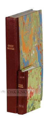 GOOD BOOKS, A BIBLIOGRAPHY OF THE BOOKS MADE BY PETER & DONNA THOMAS 1978-1991.