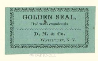 SHAKER HERBS: AN ESSAY BY CYNTHIA ELICE RUBIN WITH 19TH CENTURY SHAKER HERB LABELS.