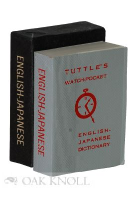 TUTTLE'S WATCH-POCKET ENGLISH-JAPANESE DICTIONARY