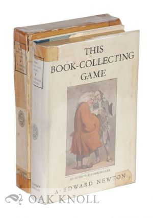 THIS BOOK-COLLECTING GAME. A. Edward Newton