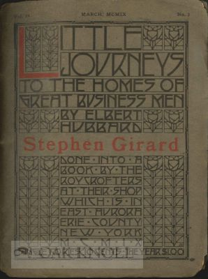 LITTLE JOURNEYS TO THE HOMES OF GREAT BUSINESS MEN, ROBERT OWEN. VOL. 24, NO.1. Elbert Hubbard.