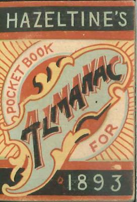HAZELTINE' S POCKET BOOK ALMANAC 1893