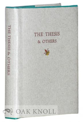 THE THESIS AND OTHERS. J. Ed Newman