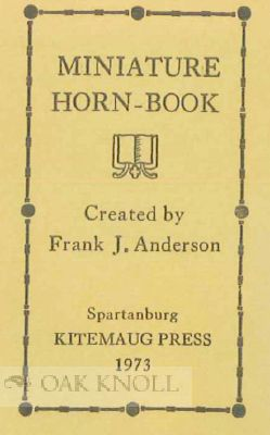 MINIATURE HORN-BOOK.