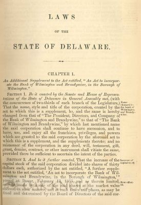 LAWS OF THE STATE OF DELAWARE, PASSED AT AN ADJOURNED SESSION OF THE GENERAL ASSEMBLY, COMMENCED AND HELD AT DOVER, ON TUESDAY, THE FIRST DAY OF JANUARY, A.D. 1861, AND OF THE INDEPENDENCE OF THE UNITED STATES, THE EIGHTY-FIFTH. With LAWS ... NOVEMBER 1861. With LAWS ... 1863. With LAWS ... 1864. With LAWS ... 1865.