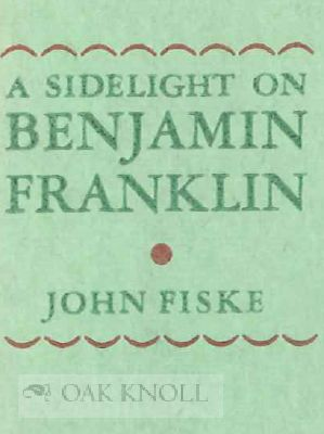 A SIDELIGHT ON BENJAMIN FRANKLIN