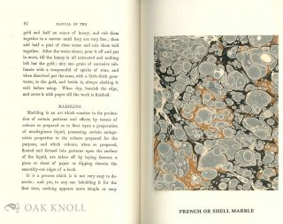 A MANUAL OF THE ART OF BOOKBINDING Originally issued with 7 hand-marbled specimens by Mr. Charles Williams.